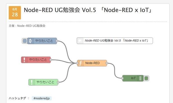 Node RED UG勉強会 Vol 5 Node RED x IoT connpass