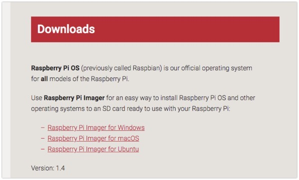 Raspberry Pi Downloads  Software for the Raspberry Pi 2020 08 15 13 47 10